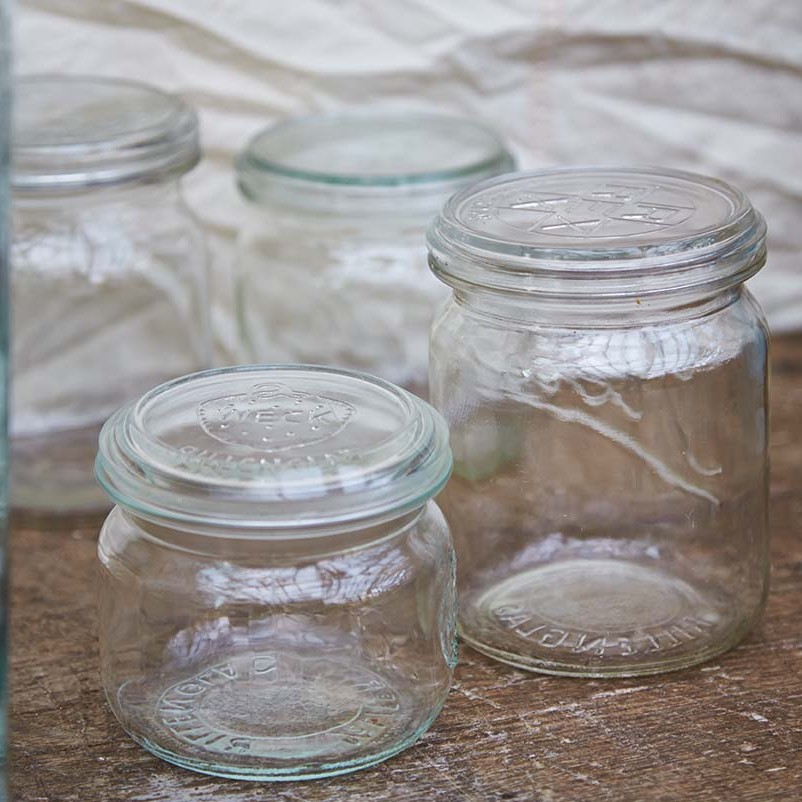 vintage glass storage jars
