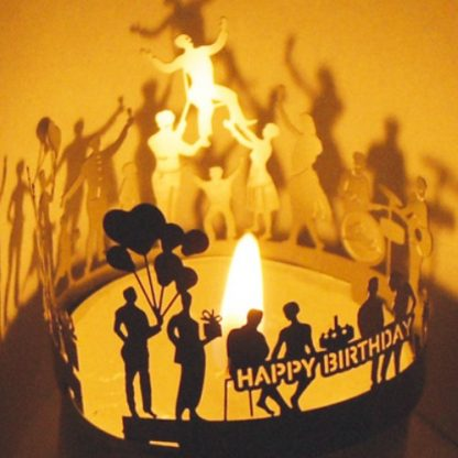 Tea Light Happy Birthday